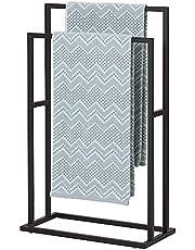 Sealskin Carré Handdoekrek, Vrijstaand, Zwart, 48 x 78 x 24 cm