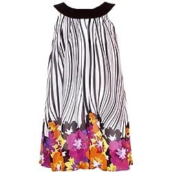Rare Editions Little Girls' Zebra Floral Border Print Dress