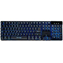 Vorago Keyboard502 Teclado Start The Game Alámbrico Metálico Multimedia Iluminado RGB USB, color Negro