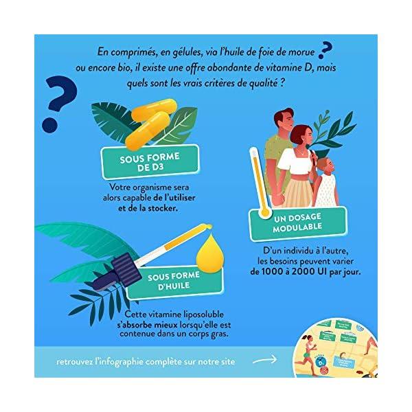 Vitamine D3 Végétale + Huile de Colza BIO   1000 UI par Goutte   Santé des Os, Dents, Muscles et Système Immunitaire…