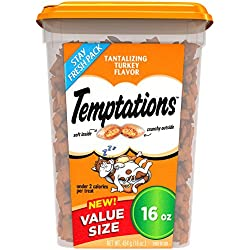 Temptations Classic Treats for Cats Tantalizing Turkey Flavor, 16 oz