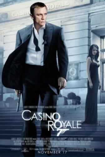 Casino Royale Single-Sided Regular 27X40 Daniel Craig Eva Green Poster from Silverscreen