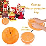 Shine-U Decompression Toy Slow Rebound Toy Super Large Half Orange Slow Rebound Simulation Funny Slow Rising Relief Squeeze Simulation Fruit Toys for Kids and Adults Gift