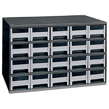 Image of Akro-Mils 19320 20 Drawer Steel Parts Storage Hardware and Craft Cabinet, Grey Home Improvements