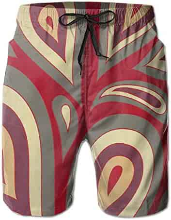 278ab5b92601d FANTASY SPACE Comfort Men & Boys Big &Tall Swim Trunks Half Pants for Beach Athletic  Workout