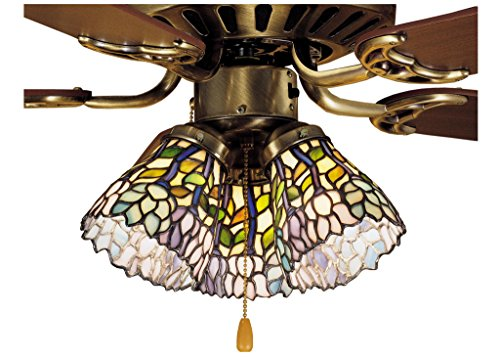 4 Inch W Wisteria Fan Light Shade , Ceiling Fixture , (Wisteria Fan Light Shade)