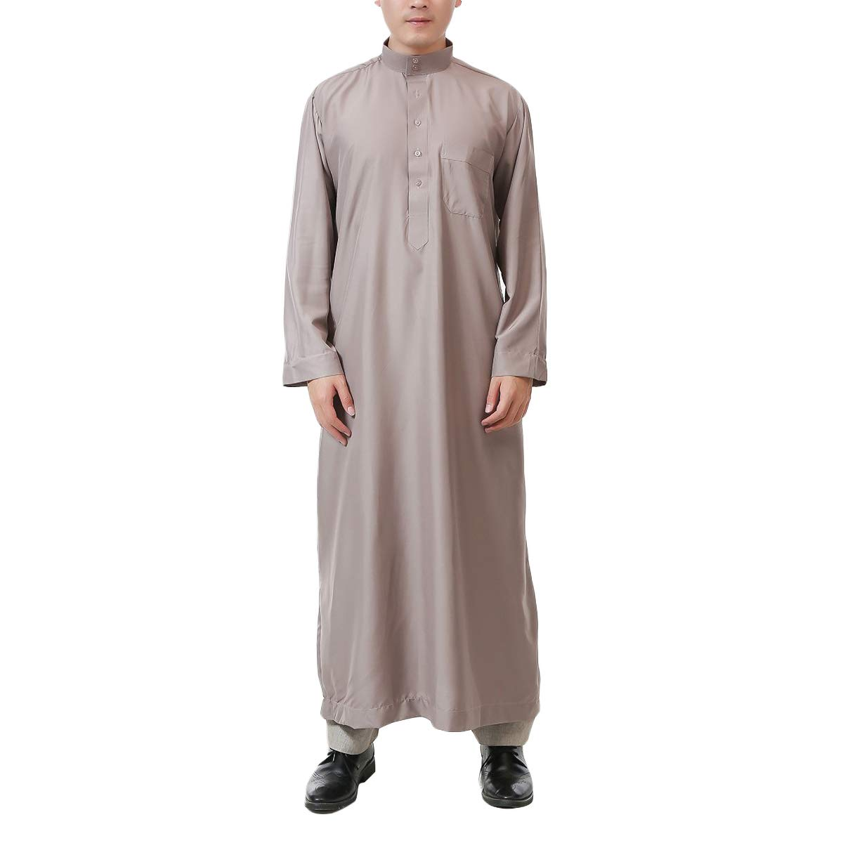 Acqrobe Musulman Abaya Thobe Homme Robe Arabe Caftan /à Manches Longues Dishdasha Turquie
