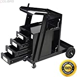 COLIBROX--4 Drawer Cabinet Welding Welder Cart Plasma Cutter Tank Storage MIG TIG ARC New. welding cart with drawers. professional welding cart. welding cart kit. welding cart home depot.ztfab weldin.