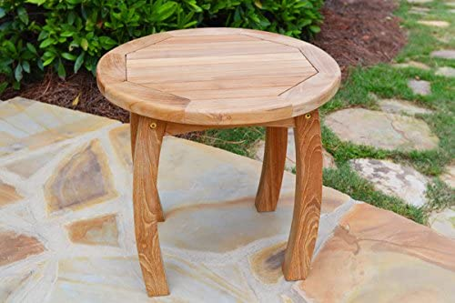Tortuga Outdoor Teak Wood 20'' Round Side Table