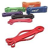 Bazaar Red Fitness Elastic Belt Resistance Bands Strength Training Exercise Pulling Strap
