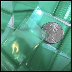 "Small Mini Ziplock 100 1015 Colors Designer Bags You Choose Color 1"" X 1.5"" Baggies Apple Brand High Quality (Green)"
