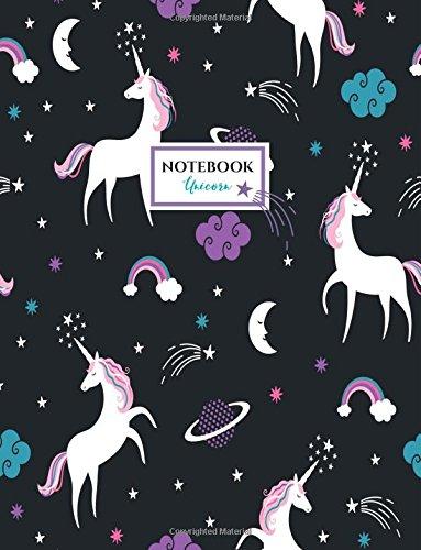 Unicorn Notebook: Unicorns Night Sky Notebook (Composition Book, Journal) (8.5 x 11 ()