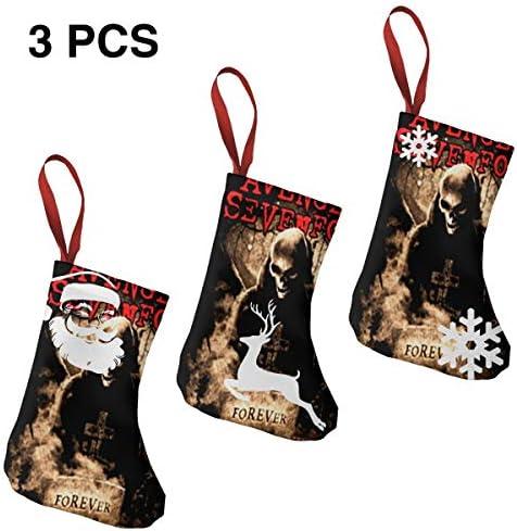 クリスマスの日の靴下 (ソックス3個)クリスマスデコレーションソックス Avenged Sevenfold クリスマス、ハロウィン 家庭用、ショッピングモール用、お祝いの雰囲気を加える 人気を高める、販売、プロモーション、年次式