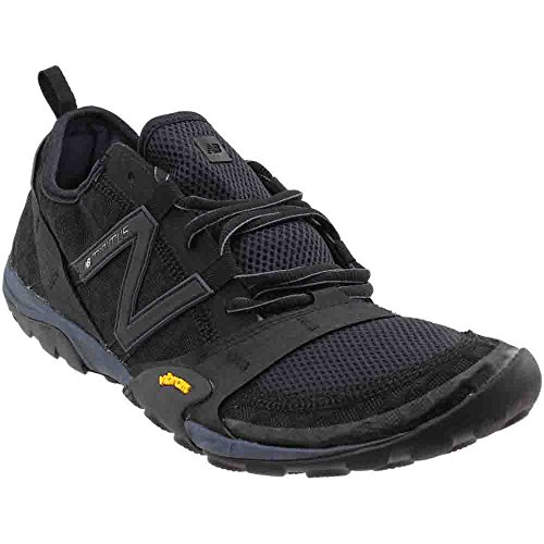New Balance Men's Minimus 10v1 Trail Running Shoe,Black/Silver,US 9 D