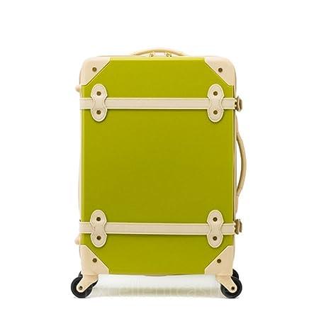 716e21890 20 inch EDDAS Luggage Spinner Wheel Vintage Hard Shell Suitcase EV501  (Green): Amazon.co.uk: Luggage