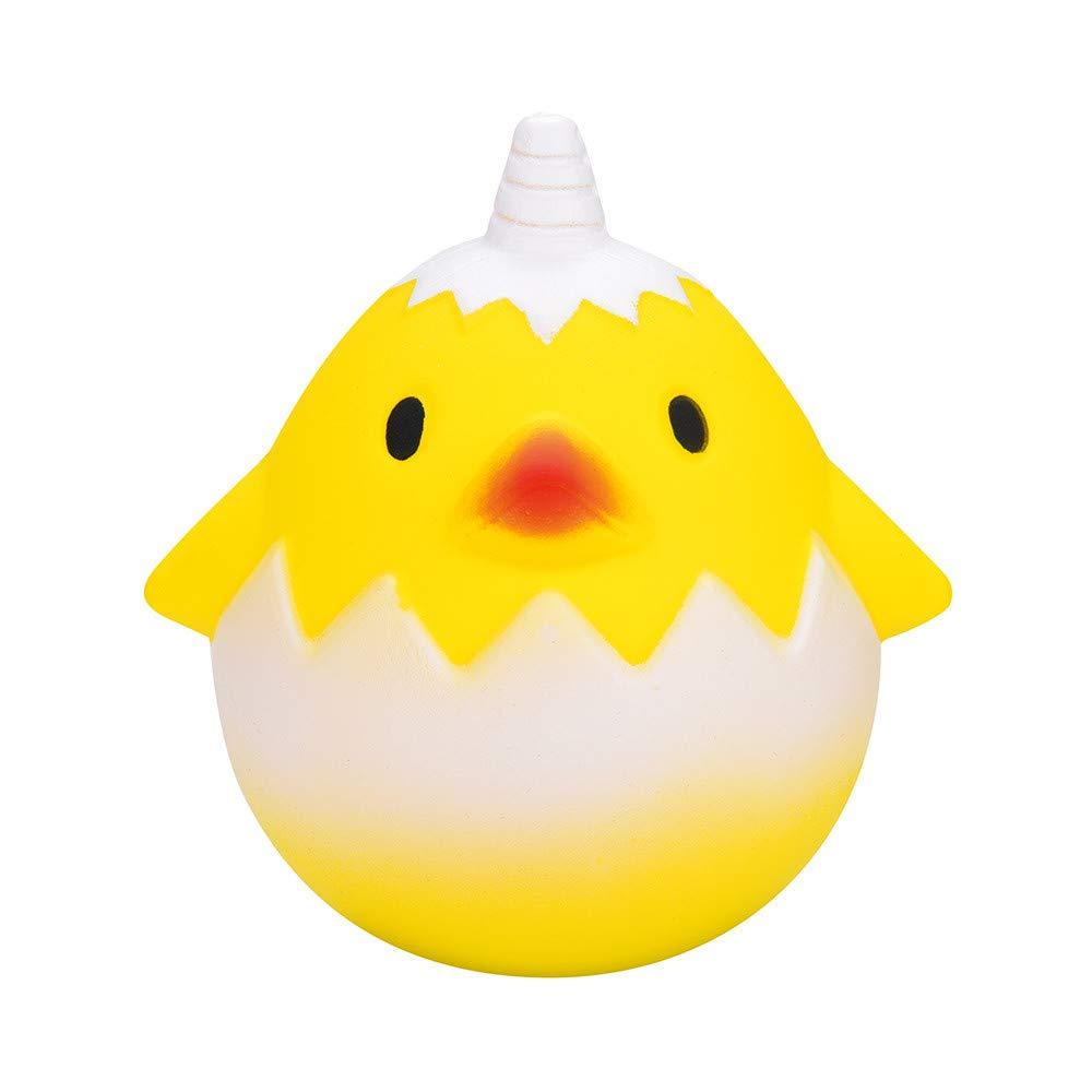 TIMEMEAN Requisiten Hähnchen Eier Duftend Matschig Schleppend Steigend Kinder Stress Linderung Spielzeuge Ostern Süß Soft Langsam Geschenke