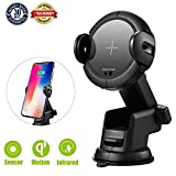 Wireless Car Charger Mount Wireless Fast Charging Infrared Sensor High Stability Suitable For Mobile Phones With Wireless Charging Function This Is a Super Cool Wireless Car Charger Phone Holder