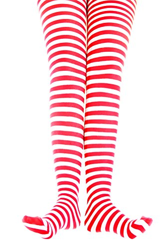 Boy Scout Costume Accessories (Kid's Green White Striped Tights in 22 Color Combos and 4)