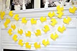 Baby carriage garland, baby shower decorations, shower decor, baby shower gift, baby room decor, yellow carriage banner baby garland bunting