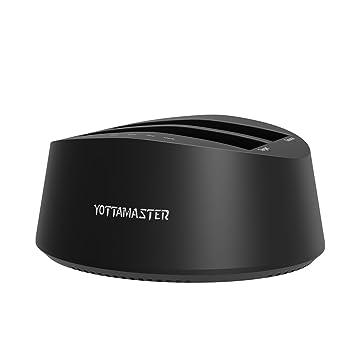Yottamaster Dual-Bay 2,5/3,5 Pulgadas USB3.0 a SATA3.0 SSD/HDD ...