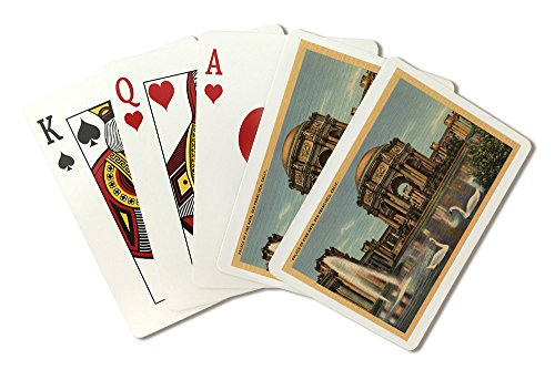 (View of the Palace of Fine Arts (Playing Card Deck - 52 Card Poker Size with Jokers))