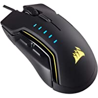 Corsair Glaive RGB Optical Gaming Mouse (16,000 DPI Optical Sensor, Interchangable Thumbgrips, 3-Zone RGB Multicolour Lighting, On-board Storage) - Black