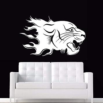 Jaguar Wall Sticker Tiger Applique Poster Vinyl Wall Art Applique ...