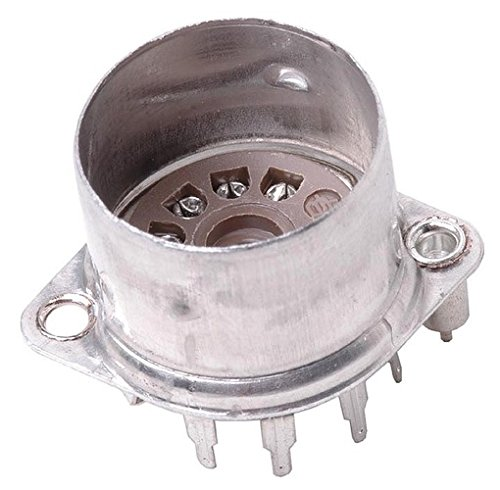 Belton Vacuum Tube Socket (VT9-PT-C) 9 Pin / Miniature, Micalex, Top Chassis Mount, w/ Shield Base