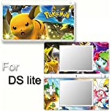 Pokemon SKIN DECAL COVER STICKER for Nintendo DS lite