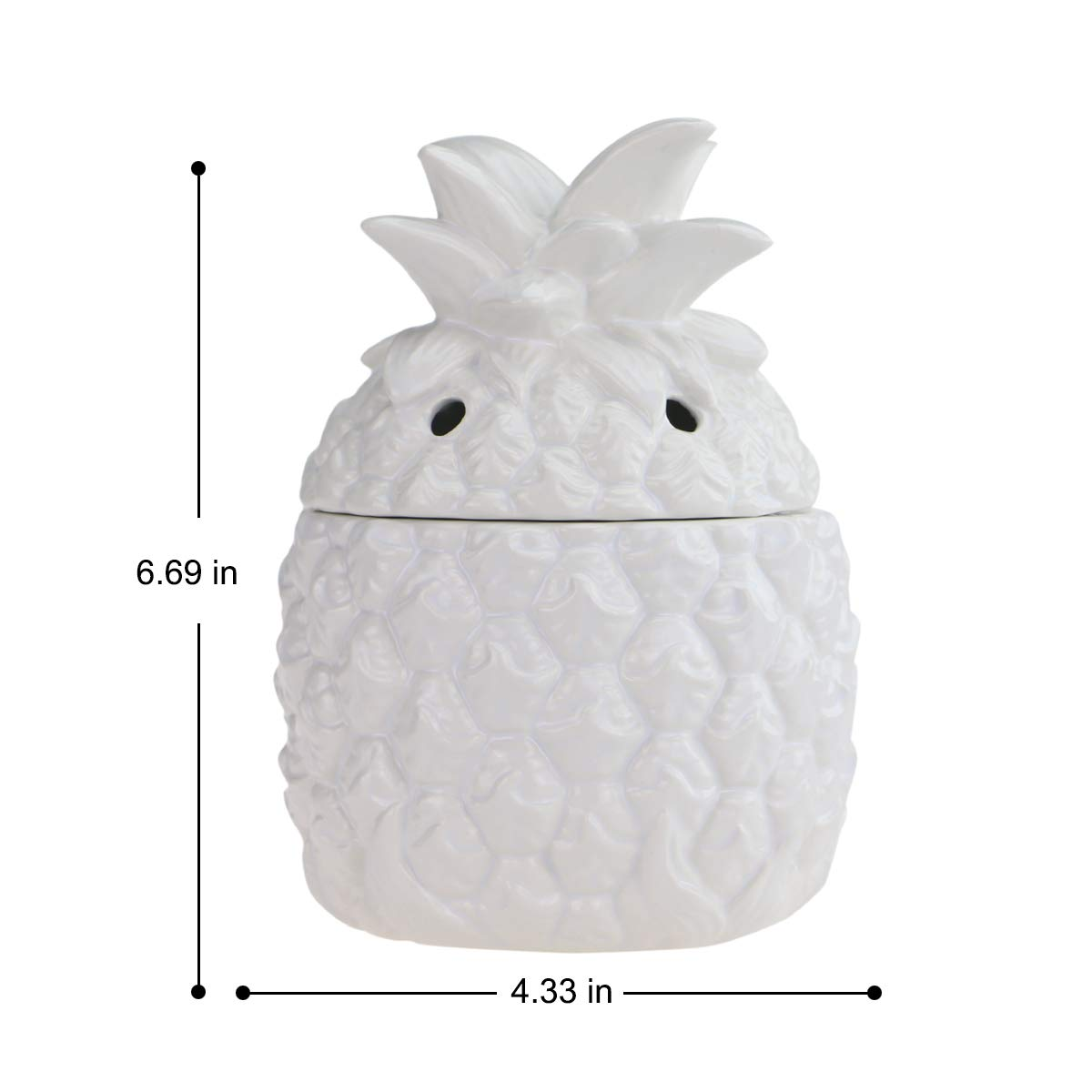 STAR MOON Pluggable Ceramic 3D Form Fragrance Warmer Wax Melter for Home/Dorm/Office No Flame No Smoke No Soot - Embossment Pineapple Pattern by STAR MOON (Image #4)