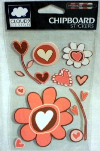 (CLOUD9 Chipboard Stickers ~ Heart)