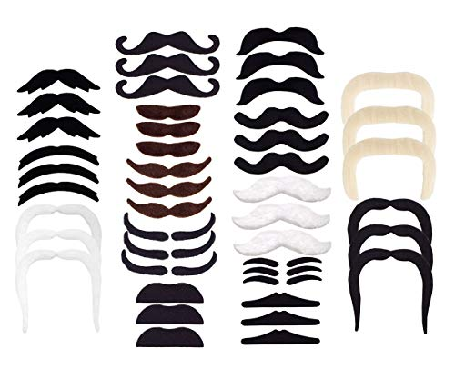 HOZZQ Self Adhesive Fake Mustaches Novelty Party Favors Supplies Party Supplies Cosplay Decorations Masquerade & Performance Halloween Christmas Party Supplies