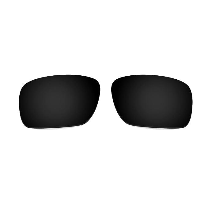 HKUCO Mens Replacement Lenses For Oakley Garage Rock Sunglasses Black/Transparent Yellow Polarized uJaMk6