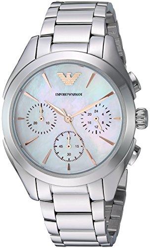 Emporio Armani Women's Quartz Stainless Steel Dress Watch, Color:Silver-Toned (Model: AR11050)