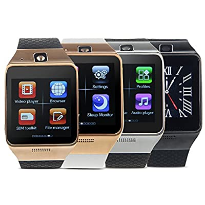 Padgene NFC Bluetooth Smart Watch for Samsung S3 / S4 / S5 / Note 4, HTC, LG, iPhone (Partial Functions) and other Android Smartphones parent