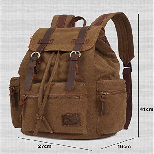 Unisex Casual Zaino Un'escursione Bookbag Portatile Uomini Satchel Borsa Computer Daypacks Cachi Di Per Zaini Dayfine Pelle Tela Donne Backpackvintage Alpinismo 7XvwvP