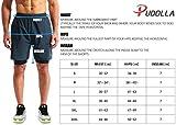 "Pudolla Men's 2 in 1 Running Shorts 7"" Quick Dry"