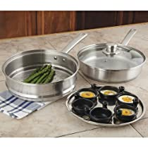 Fagor Stainless Steel 4-Piece Multi-Pan Set