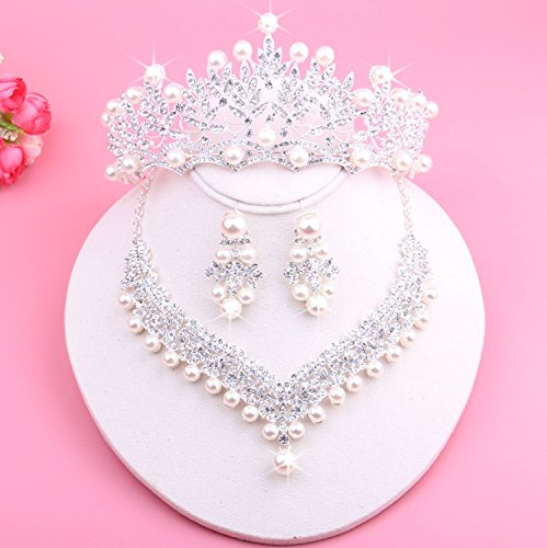 arried_ Crown Tiara Party Wedding Headband Women Bridal Princess Birthday Girl Gift luxury _shadow_floor_ Headdress Korean style new Rhinestone ing pearl _cheap_ jewelry pageant Cr ()