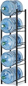 Nandae Water Cooler Jug Rack, 5-Tier Heavy Duty Water Bottle Holder Storage Rack for 5 Gallon Water Dispenser, Save Space