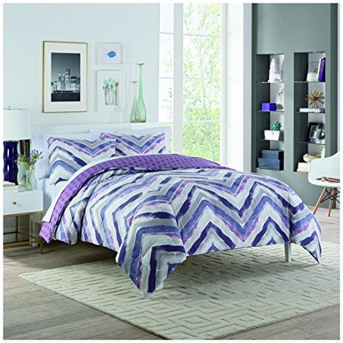 Vue Baxter Comforter Set, Twin Extra Long, Plum