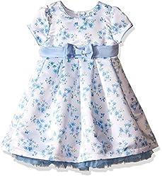 Little Me Toddler Girls' Floral Dress, Blue Floral, 2T