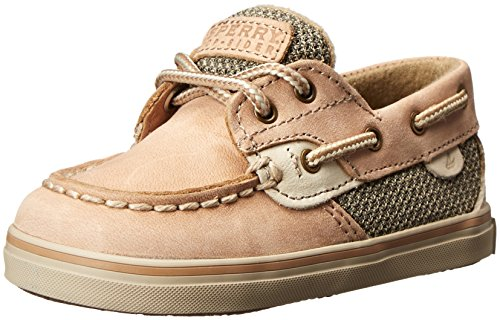 Baby Boat Shoes (Sperry Bluefish Crib Boat Shoe (Infant/Toddler), Linen/Oat, 4 Toddler M)