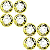 Labeda Wheels 80mm 74A RPG X-SOFT YELLOW 8-Pack Inline Indoor Hockey