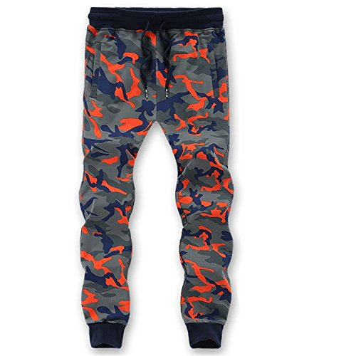 Rising On Stylish L-6XL 7XL 8XL=52.54 Inch Waist 95% Cotton Camouflage Sweatpants Men Trousers Sweat Pants Ld863 Check Size 2XXXX-Large