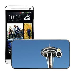 Etui Housse Coque de Protection Cover Rigide pour // M00169118 Aguja Espacial de Seattle Washington // HTC One M7
