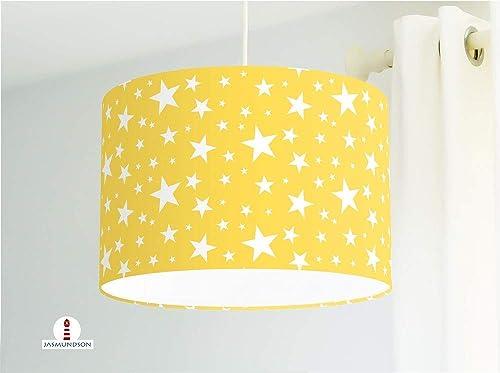 Lampe Kinderzimmer Sterne Gelb aus Baumwollstoff - alle ...