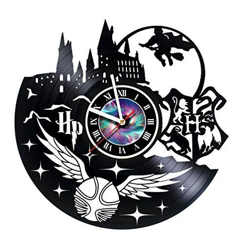 KravchArt HARRY POTTER - Vinyl Record Wall Clock Decor Fan Art - - Get unique living room wall decor - Gift ideas for friends, teens, men and women, girls and boys