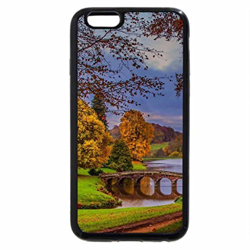 iPhone 6S / iPhone 6 Case (Black) lovely bridge in a serene park scene