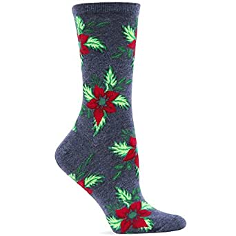 Hot Sox Holiday Pointsettia Sock
